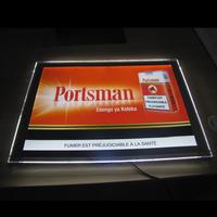 Edgelight crystal light box with poster frame , single side advertising light box
