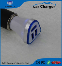 Speed Charge 3 usb battery car charger , 5.2A car battery charger , 3 port mini car charge