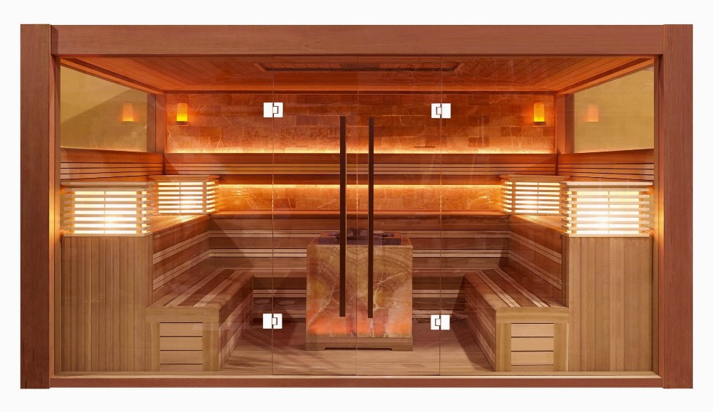 Tradicional sala de sauna finlandesa saunas con harvia - Calentador de sauna ...
