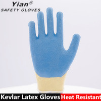 Safety cut resistant kevlar protective gloves cutting glass