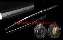 2014 new clay-tempered carbon steel 1095 Japanese samurai sword katana with distinct real hamon JK160BK