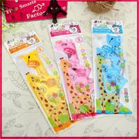 kawaii stationery for school supplies diameter giraffe plastic ruler set direct manufacturer