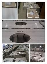 Natural Stone White Oak Marble Vanity tops,Various Color