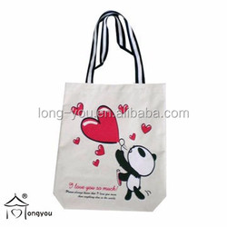 Canvas bag printing plain white cotton canvas tote bag