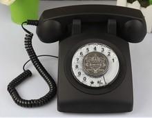 rotary dial telephone classic landline phone