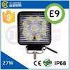 China Wholesale! CE RoHs IP68 Emark 27W LED Headlight Work Light, LED Lamp for SUV, UTV, ATV, Trucks, Jeep etc