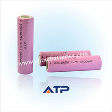 Venta al por mayor de alarma del sistema de seguridad de la batería/18650 3.7v 2600 mah li-ion de la batería