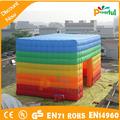 Poderosa brinquedos coloridos barraca inflável para alugar e propaganda