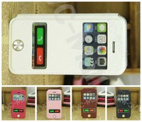 New Arrival Stream Line Dual View Window Leather Phone Case for iPhone 5c