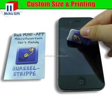 2015 microfiber full color print custom shape mobile phone screen cleaner / wipe stickers