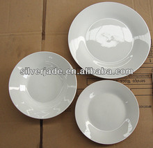 modern china dinnerware pure white