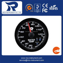 Rico 52mm clear lens white LED stepping gauge -Water Temp Meter