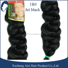 High quality hair extension Ultra braid jet black synthetic braided hair