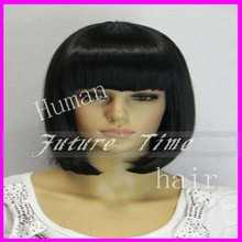 virgin brazilian full lace wigs human hair wholesale two tone lace front short bob wigs with bangs