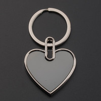 Wholesale Zinc Alloy Photo Frame Keyrings Metal Blank Keychains for Promotion Gift