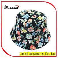 2016 ladies whole sale reversible floral fisherman bucket hat