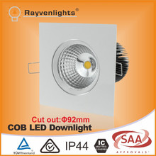 92mm cutout 3.5 inch cob square surface mounted downlight