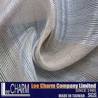 Golden & Silver Stripe Organza Voile for Curtain Decoration