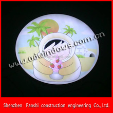 flat white acrylic with graphics on surface frontlit led sign lolgo