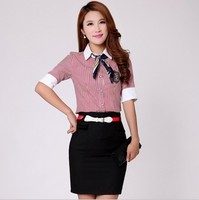 W10153G 2015 office uniform designs for women summer blouse ladies