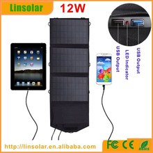 Best Quality USB Solar Powered Charging Panel 12W 5V Factory Direct Paypal acceptable