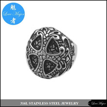 Classic wholesale crusader cross stainless steel skull ring of fashion jewelry MJKR- 104