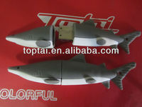 popular customized model promotional gift pvc shark shape 2gb usb flash memory