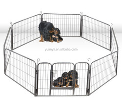 Dog Cat Pet Playpen Pet Dog Puppy Exercise Pen Fence 8 Panel Enclosure Large Heavy Duty Cage