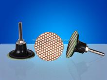 "2"" Diamond resin polishing pads for thermal spray coatings"
