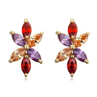 Fashion colorful cz bridal earrings with accessories for chandeliers of yiwu factory