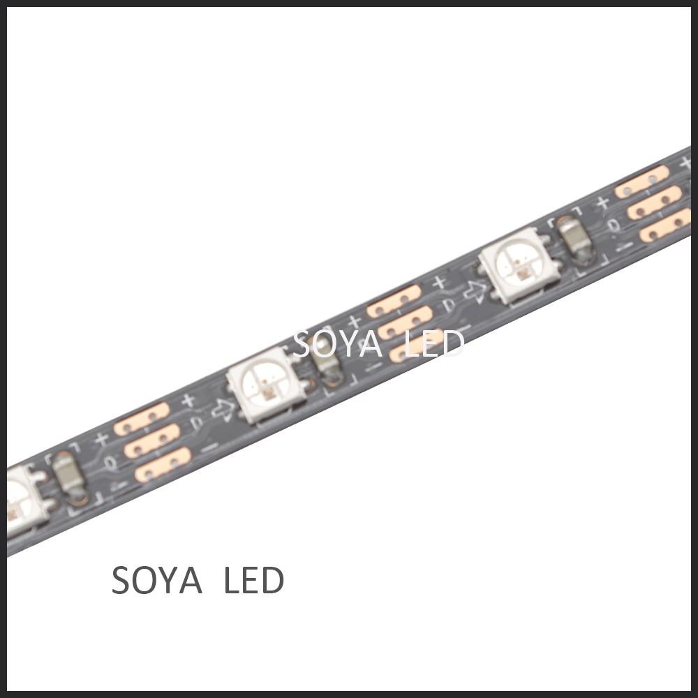 mini led pixel tape sk6812mini 60 leds black pcb