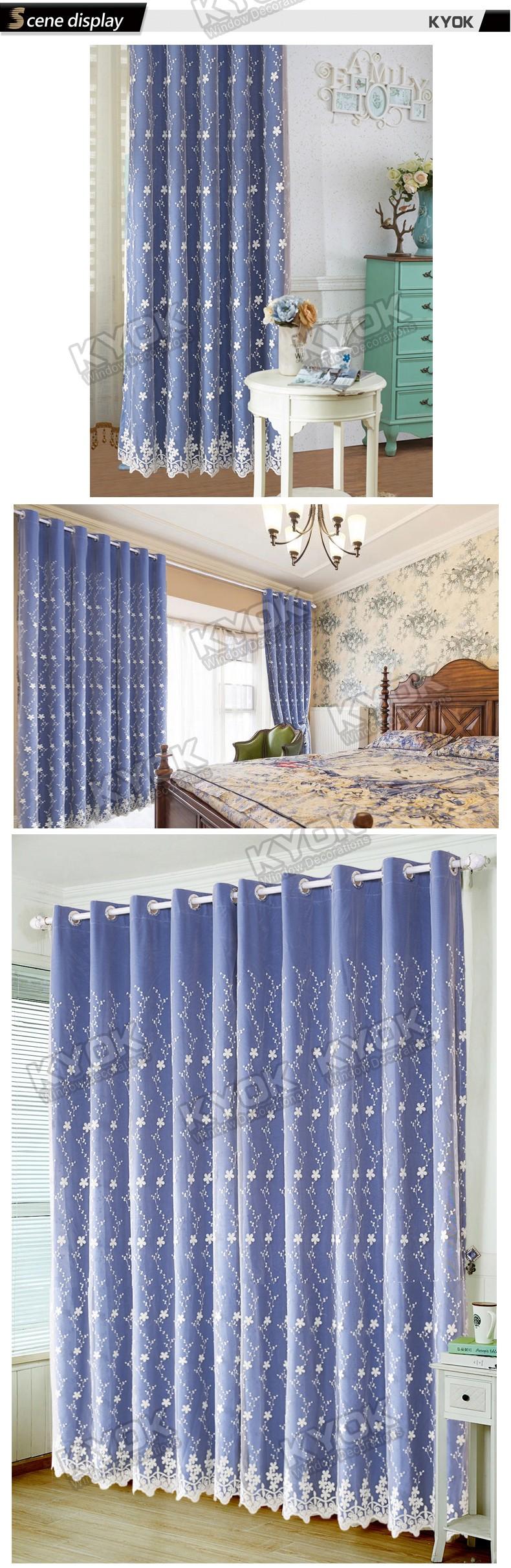Kyok hoge kwaliteit unieke gordijn ontwerp voor woonkamer gordijn ...