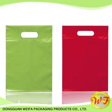 Manufacturer Material Clear Plastic Die Cut Bag /plastic Die Cut Gift Bag Hdpe/bio-degradable Fashion Die Cut Bag For Shopping