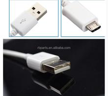 Smartphone micro usb cable con de sincronización de datos de color blanco micro usb 2.0
