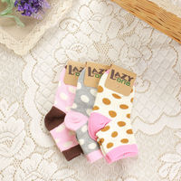 120N 100% cotton cute ankle cartoon baby socks winter