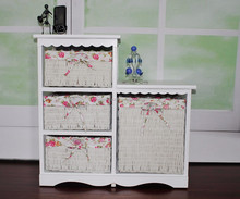 Europe type restoring ancient ways store content ark Fashion bin Solid wood multi-layer metal drawer