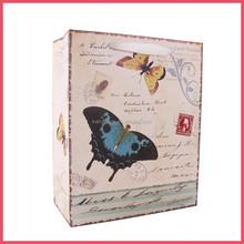 2015 hot sale 4C printing butterfly 250gsm art paper bag