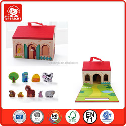 2015 new role play farm toy for kids,popular wood farm toy for kids ,hot sale wooden farm toy