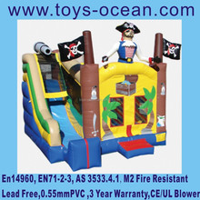 inflatable pirate combo ,inflatable pirate moonwalk with slide,inflatable pirate bouncer with slide