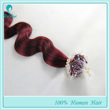 Micro-ring Hair 1g/strand 100g Brazilian Unprocessed Hair Factory Direct Price Double Drawn Top Grade Lady Fashion