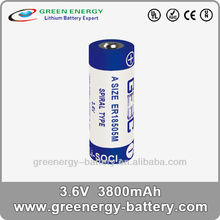 3.6v lithium battery energizer battery er18505m battery A size ER18505M