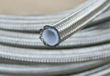 AN -8 AN8 8an Stainless Steel Braided PTFE teflon hose Fuel Line Oil Gas ptfe teflon Hose per meter