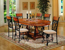 wrought iron dining table and chairs / dining room furniture set