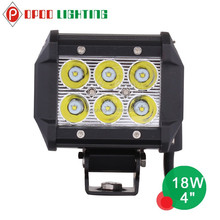 Hot super bright mini working light c.ree 4 inch offroad led light bar 18w for 4x4 jeep