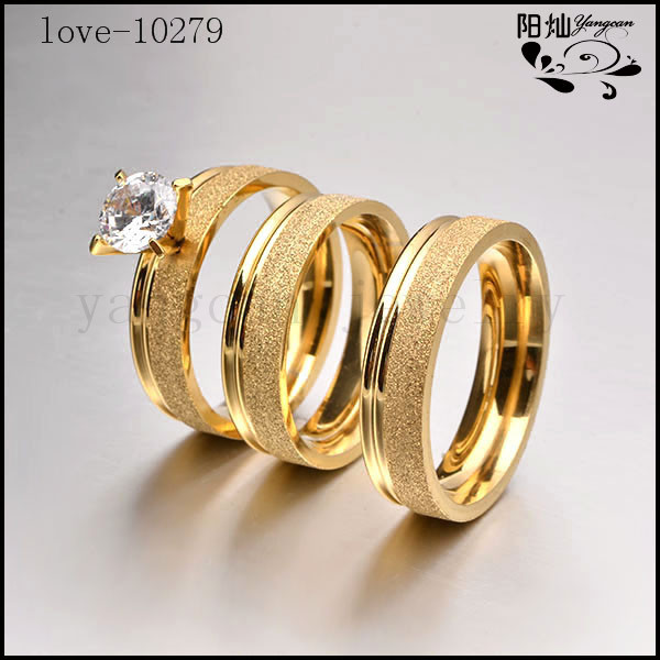 ring round plated rings for gold wedding p women trendy white wholesale
