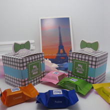 """My Little Man"" Pop Up Mustache Bow Tie Candy Baby Shower Favor Gift Box"