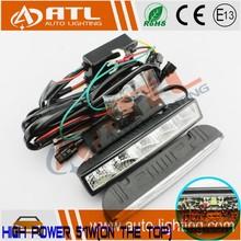 ATL High quality Dim+Turning+Slow off high power led daytime running lamp