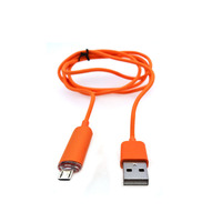 moblie phone accessories V8 connector Colorful mp3 usb cable,awm 2725 usb cable