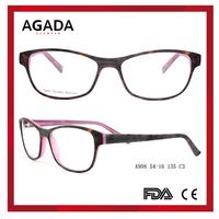 Fashion thinner acetate italy design rimless glasses