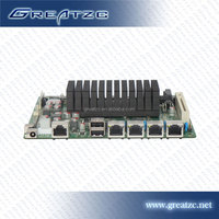 ZC-M5F Router Lan Atom D525 Motherboard 4 Lan,Router Motherboard 2 SATA,Computer Mainboard with PCI